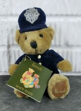 "Harrods Teddy Bear Police Knightsbridge London Stuffed 7"" Sitting Plush Toy"