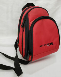 Official Nintendo DS Mini Backpack Carrying Case Carry logo travel red ALS NDS55