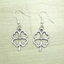 12 X Wholesale Lots Vintage Silver Celtic Clover Earrings 925 Sterling Hooks NEW