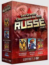 Coffret 3 DVD Les Grands Classiques du film Russe vol 1