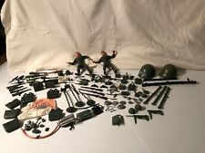 Vintage Marx Toy Soldier Figure Lots Lots Of Weapons And Accessories Guns 50 Cal