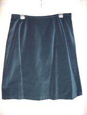 Deep Teal Norton McNaughton Velvet Fully Lined  Skirt Size 14