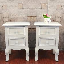 moderni coppia bianco set comodino armadietto Credenza cassettiera shabby chic