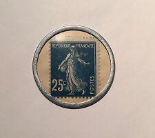 25 CENTIMES MONNAIE de NECESSITE / TIMBRE - CREDIT LYONNAIS - PARIS - ALUMINIUM