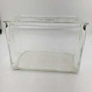 Vintage Glass Car Battery Jar or Box Use for Fish Tank Bowl Aquarium Terrarium