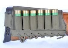 Shotgun Cartridge Holder Cheek Rest Buttstock Shell 20 gauge w/ 6 Pockets