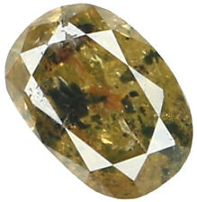 Natural Loose Diamond Oval I1 Clarity Brown Green Color 5.13 MM 0.40 Ct KR917