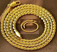 Brand New;  9K Gold Filled Embossed Edge Fancy Necklace