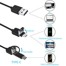 NEW hard line Endoscope Inspection Tube For Android ios UK 3 in 1 Borescope