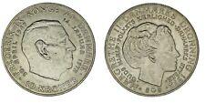 10 KRONER DENMARK/CORONAS DINAMARCA. Ag. FREDERICK IX AND MARGRETHE II.AU/SC-.