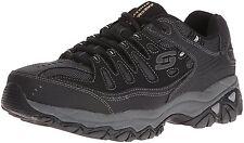Skechers Sport Mens Afterburn Memory Foam Lace-Up Sneaker,Black,10.5 M US