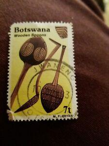Botswana - RARE - Wooden spoons stamp