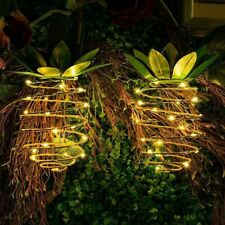 String Lamps Party Night Light Pineapple Filament Bulb Solar Powered Garden Cafe