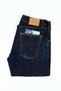 29933 Nudie Jeans Big Bengt Dark Crinkle Dark Blue Men Jeans in size 32/34
