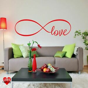 Infinity love symbol design vinyl wall art sticker