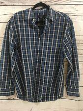 #23 Austin Clothing MeN Shirt  L Long Sleeve Button Up Multi Plaid EUC