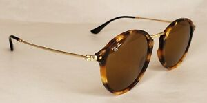 Ray Ban Round Sunglasses RB 2447 1160 Tortoise Gold 49 21 Made In Italy