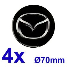 4pcs set MAZDA Silicone Stickers for Wheel Centre Cap Hubs 70mm