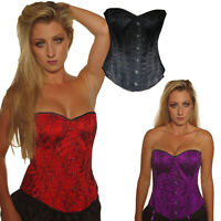 BASQUE/ CORSET STEEL BONED LACE  SIZE 6-18  TUTU GOTHIC ALTERNATIVE