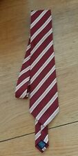 Mens Wine And Gold Tie