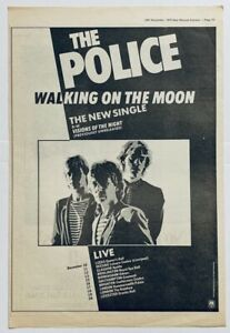THE POLICE 1979 original POSTER ADVERT WALKING ON THE MOON Sting