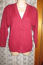VINTAGE  ~ 5TH AVENUE ~ Cherry CARDIGAN  * Size 10 * REDUCED !!