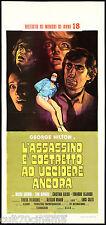 L'ASSASSINO È COSTRETTO A UCCIDERE ANCORA LOCANDINA CINEMA FILM LUIGI COZZI 1975