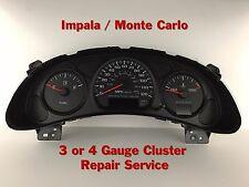 00-05 Impala Speedometer Instrument Gauge Cluster REPAIR SERVICE