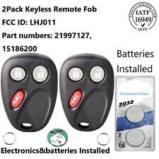 2PCS LHJ011 for GMC Sierra Yukon 2003 2004 2005 2006 Keyless Remote Car Key Fob