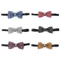 Men Bow Tie With Rhinestone Necktie Bowtie Luxury Pre Tied Glitter Fashion Feast