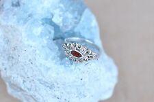 Markasit  925/er Silber Ring mit Granat Gr 57  (AN-12)