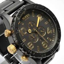 New NIXON Watch Mens 51-30 CHRONO MATTE BLACK GOLD  A083-1041 A0831041