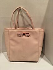 d053458f1536 Ted Baker London Soft Pink Tote Handbag w Copper Accents Size Large