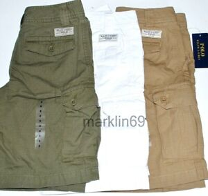 Boys Genuine Ralph Lauren Cotton Cargo Shorts sizes 8 yrs to 18 yrs CLEARANCE