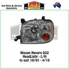 HEADLIGHT suit NISSAN NAVARA D22 L/H LEFT PASSENGER SIDE 2001-2015 ADR COMPLIANT