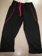 NEU Crivit Sports Damen Laufhose Laufcapri Gr. XS 32 / 34 schwarz mit rosa Nähte