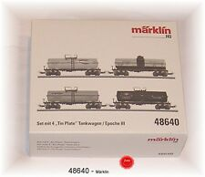 "Märklin 48640 Set with 4 "" Tin Plate "" -tankwagen SINGLE IN BOX #"