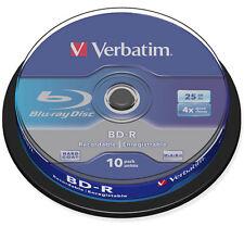 BD-R 25GB 6X VERBATIM BLU-RAY - tarrina 10