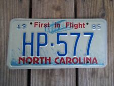 1985 North Carolina Highway Patrol License Plate HP-577 First in Flight Metal