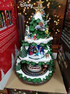 "Disney Christmas Tree 17.5"" Music Box !!! LED Lights Xmas Decorations SEE VIDEO!"