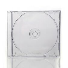 50 x CD JEWEL CASES COMPLETE WITH CLEAR TRAYS 10mm Spine UK Made