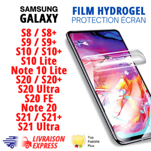 ✅Hydrogel Film Protection écran Samsung Galaxy S8,S9,S10,S20,S21,note 20 lite,FE