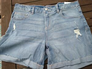 Girls Size 18 Justice Denim Shorts new with tags. distressed