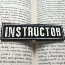 3D BLACK INSTRUCTOR TACTICAL MILITARY MORALE BADGE EMBROIDERED HOOK & LOOP PATCH