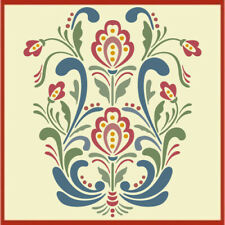 Rosemaling Pattern 18 Stencil- Swedish Kurbits - The Artful Stencil