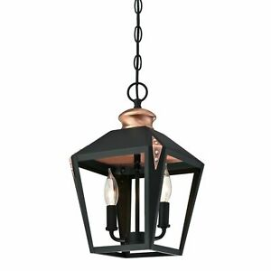 Two Light Indoor Pendant Westinghouse Valley Forge Matte Black Finish 6328400
