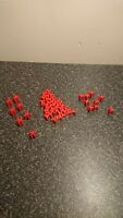 Vintage Risk Board Game Spares, red Army