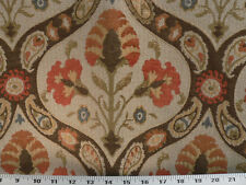 Drapery Upholstery Fabric Traditional Floral / Paisley Chenille - Tangerine