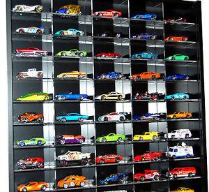 Model Car Display 1:64 & 1:72 Scale Hot Wheels, Matchbox, Biante, Tomica (BLACK)