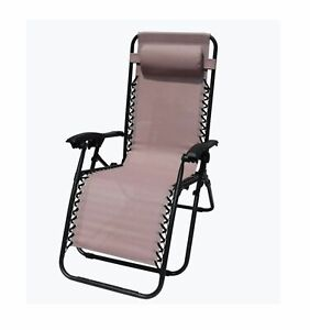 Blush Zero Gravity Garden Chair Pink Relaxer Lounger Head Rest Pillow cheapest